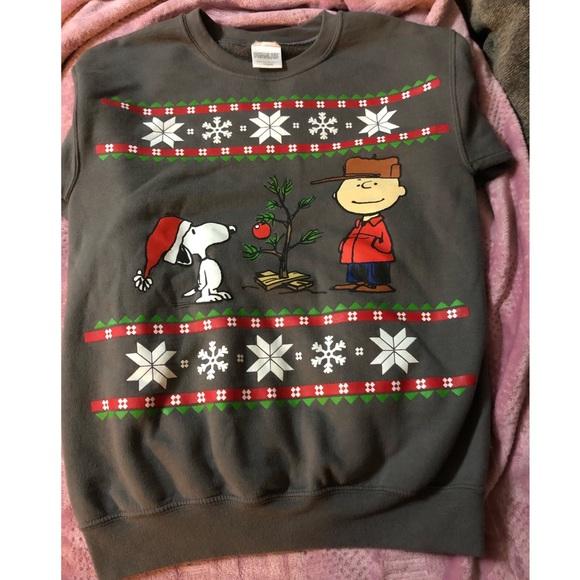 Peanuts Sweaters Charlie Brown Ugly Christmas Sweater Poshmark